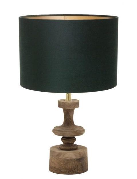 Lampenvoet brocante hout-9979B