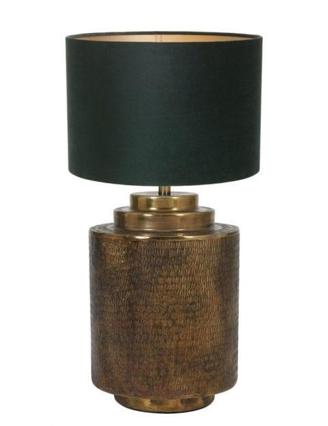 Landelijke tafellamp met kap-9964BR