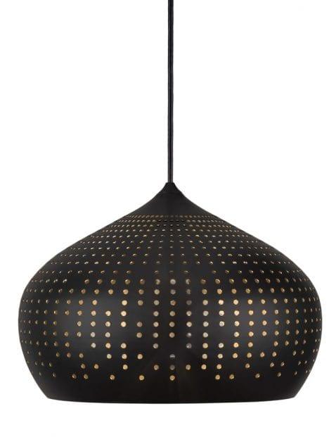 Oosterse lamp zwart-2311ZW