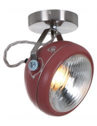 Plafondlamp oud roze-1729RZ