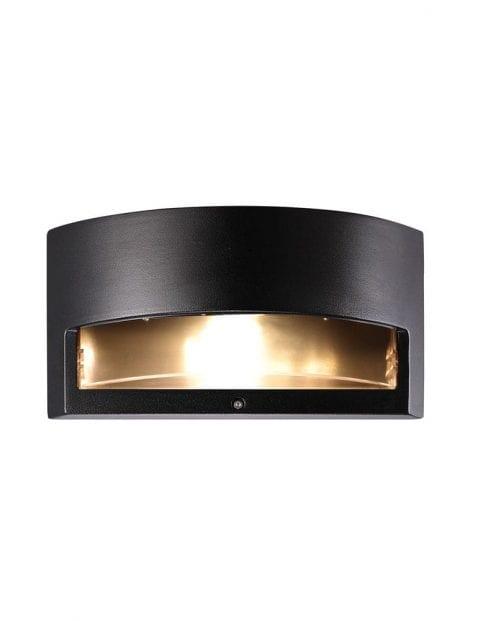 Rechthoekige buitenlamp zwart-2333ZW
