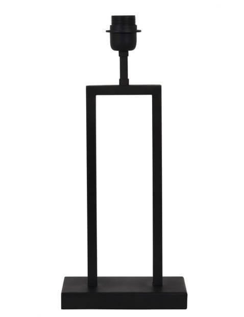 Rechthoekige lampenvoet zwart-2081ZW