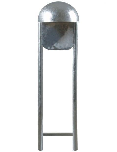 Staande buitenlamp staal met bol-2371ST