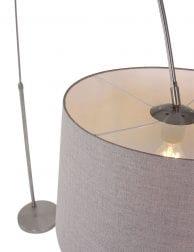 Stalen-booglamp-met-taupe-kap-9849ST-1