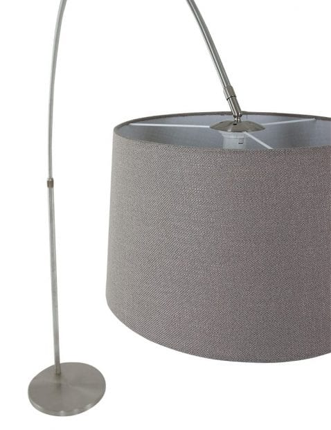 Stalen-booglamp-met-taupe-kap-9849ST-2