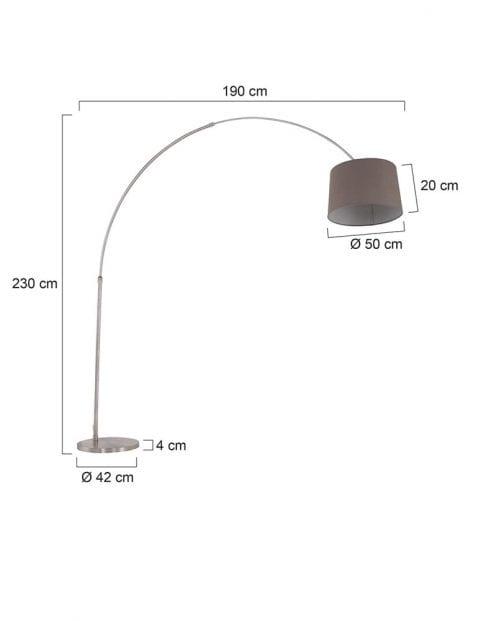 Stalen-booglamp-met-taupe-kap-9849ST-7