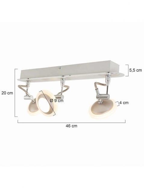 Stalen-tweelichts-plafondlamp-7725ST-2