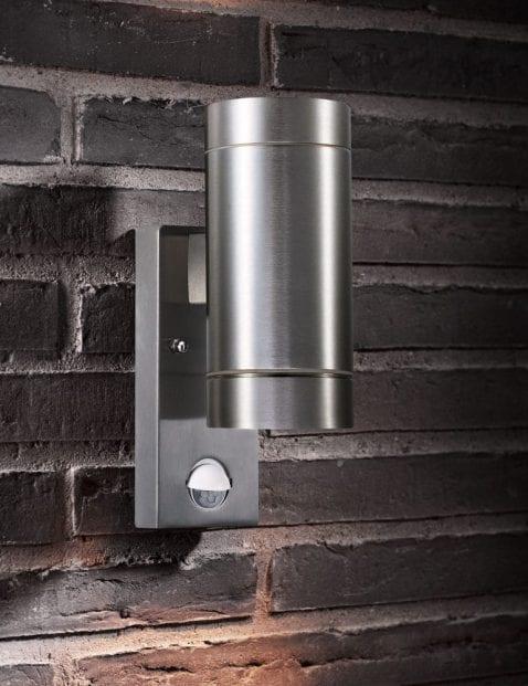 Stalen-wandlamp-cilinder-2385ST-1