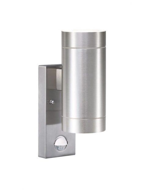 Stalen wandlamp cilinder-2385ST