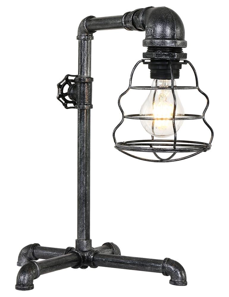 Stoere industriele tafellamp trio leuchten gotham for Stoere industriele wandlampen