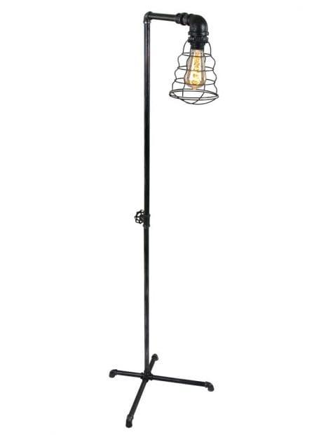 Stoere industriele vloerlamp-1608ST