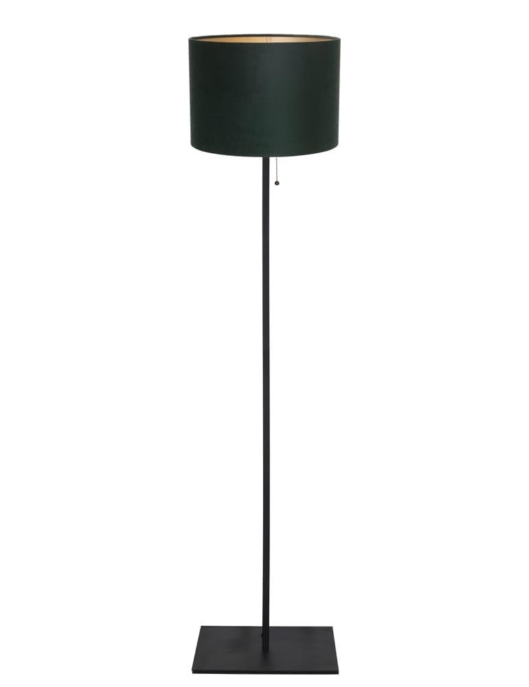 Staande Lamp Met Kleine Kap.Strakke Vloerlamp Met Groene Velours Kap Light Living Mason