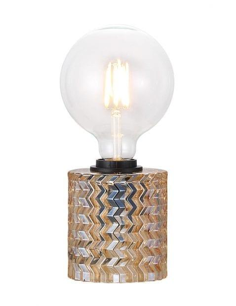 Tafellamp met donker glas-2309B
