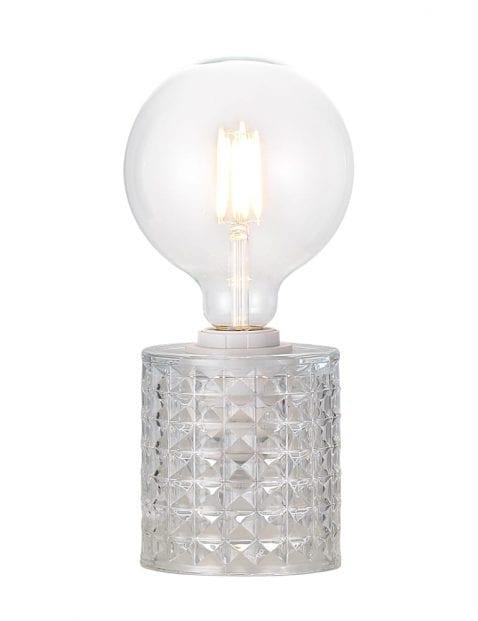 Tafellamp met glazen voet-2308ZW