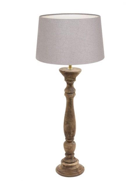 Tafellamp met houten voet-9178BE