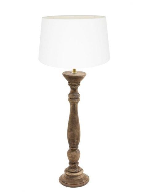 Tafellamp met houten voet-9179BE