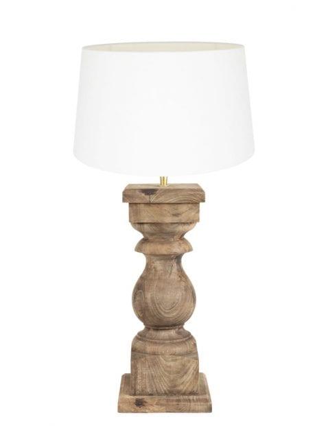 Tafellamp met houten voet-9181BE
