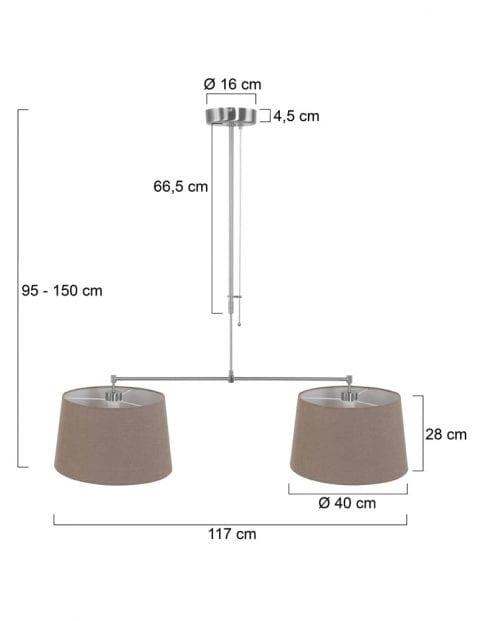 Tweelichts-hanglamp-taupe-kappen-9839ST-3
