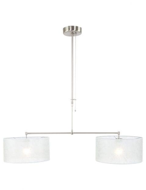 Tweelichts met doorzichtige lampenkappen-9588ST