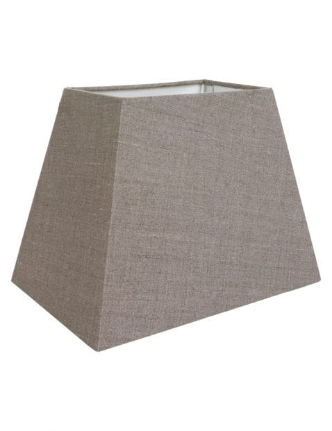 Vierkante bruine lampenkap 24cm-K6016BS