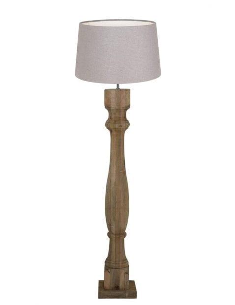 Vloerlamp met houten voet-9182BE