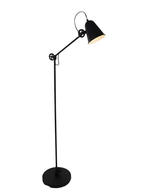 Vloerlamp zwart metaal-1325ZW