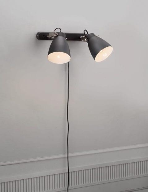 Wandlamp-2-lichts-zwart-2316ZW-5