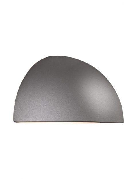 Wandlamp buiten halve bol grijs-2338GR