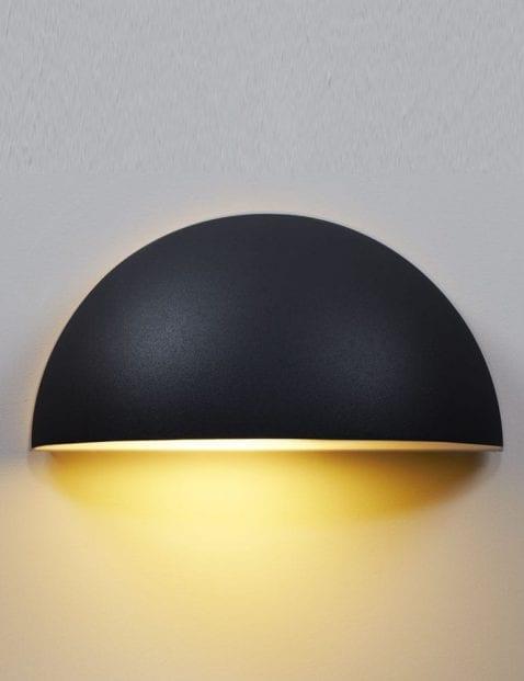 Wandlamp-buiten-halve-bol-zwart-2335ZW-3
