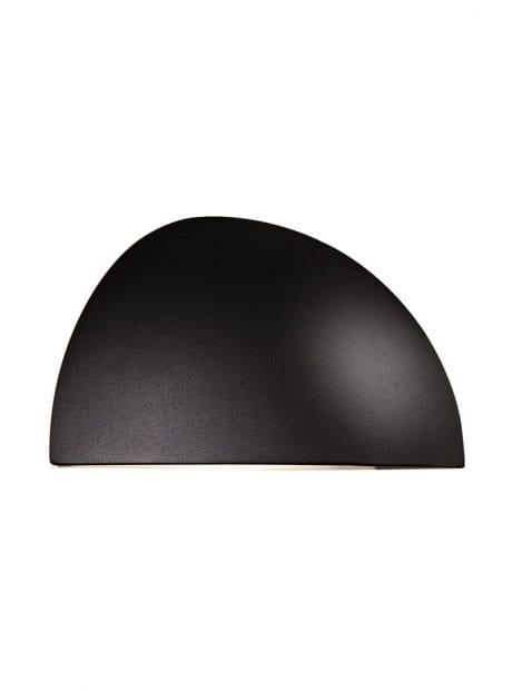 Wandlamp buiten halve bol zwart-2335ZW