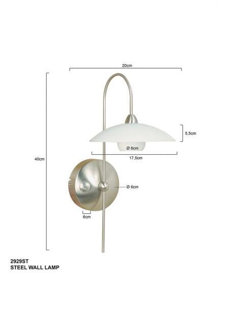 Wandlamp-klassiek-staal-2929ST-1