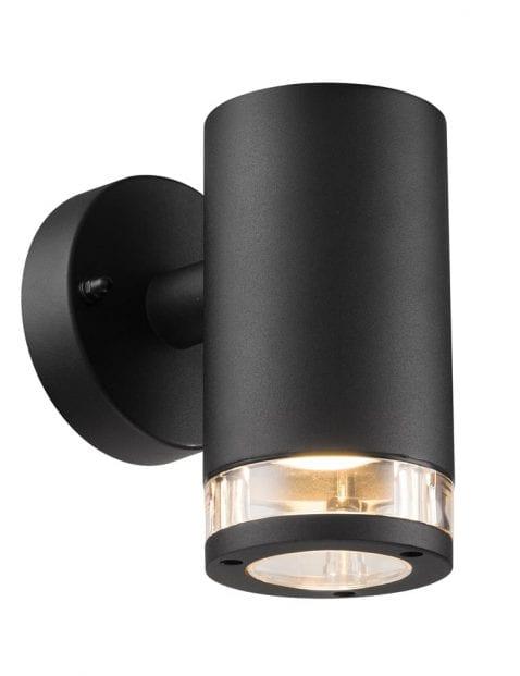 Wandlamp zwart metaal-2153ZW