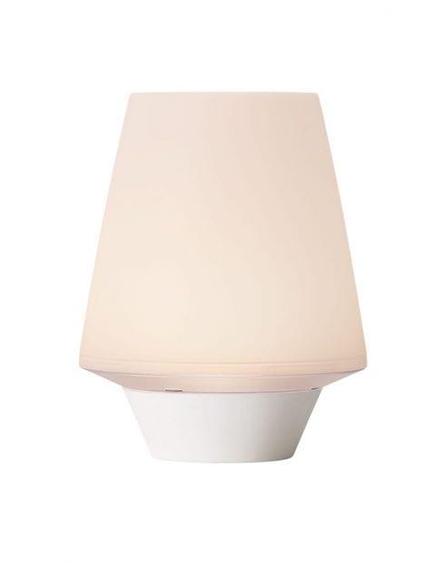 Wit kunststof tafellampje-2304W