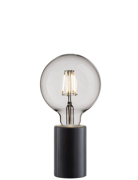 Zwart klein tafellampje-2373ZW