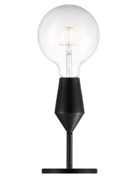 Zwart stoer tafellampje-2412ZW