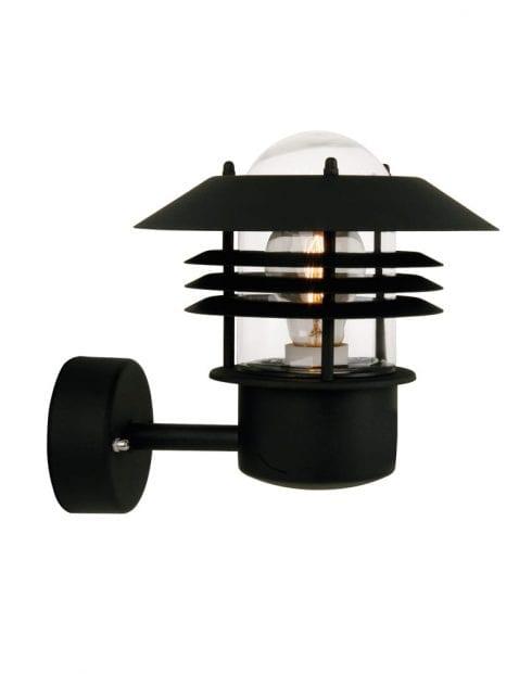 Zwarte design wandlamp-2394ZW