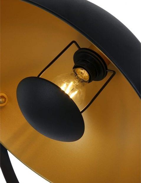 Zwarte-driepoot-met-gouden-kap-1648ZW-1
