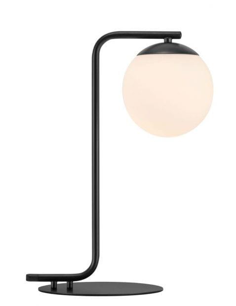 Zwarte tafellamp bol-2406ZW