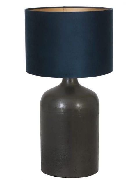Zwarte vaaslamp landelijk-9275ZW