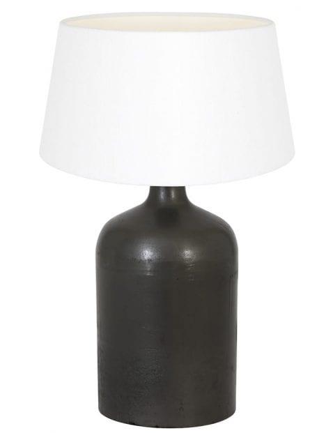 Zwarte vaaslamp landelijk-9276ZW