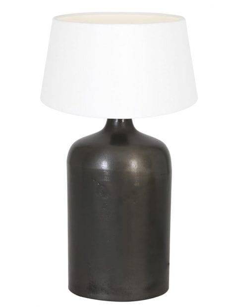 Zwarte vaaslamp landelijk-9279ZW