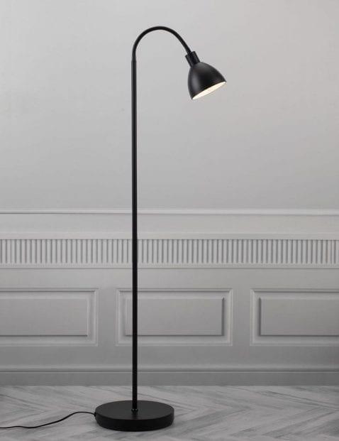 Zwarte-vloerlamp-met-goud-2353ZW-4