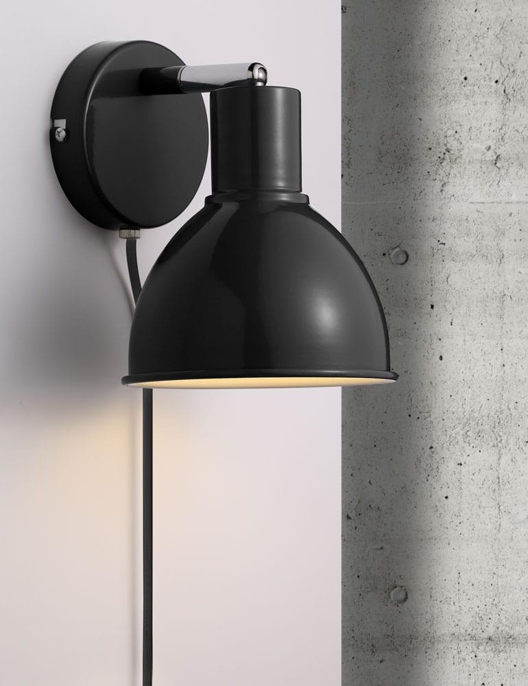 Zwarte Wandlamp Industrieel Nordlux Pop Directlampen Nl