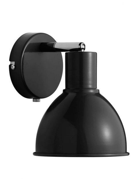 Zwarte wandlamp industrieel-2345ZW