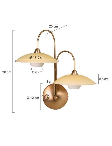 wandlamp-brons-led-2928BR-4