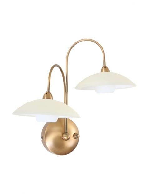 Klassieke glazen wandlamp Steinhauer Burgundy brons