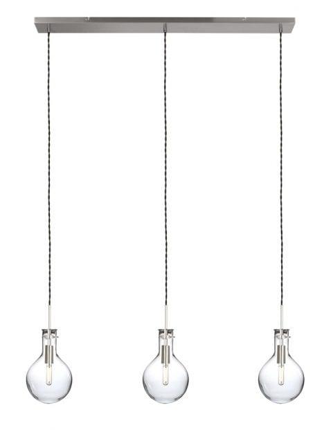 3 lichts pendellamp glas-1892ST