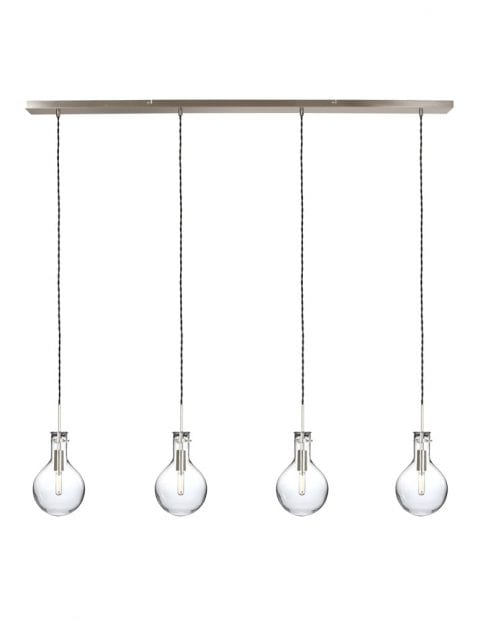 Vierlichts pendellamp Steinhauer Elegance LED staal