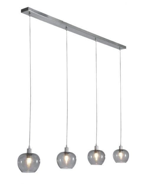 4lichts hanglamp rookglas-1900ST