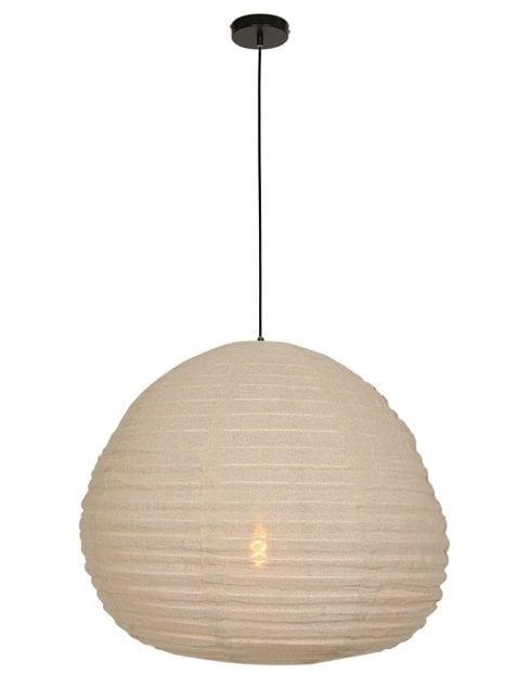 beige stoffen hanglamp-2136B